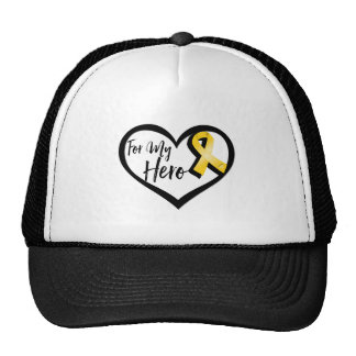 Gold Awareness Ribbon For My Hero Cap
