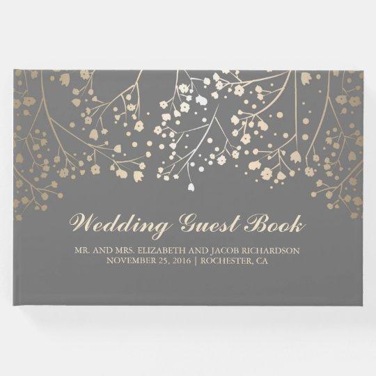 Gold Baby's Breath Floral Elegant Grey Wedding Guest