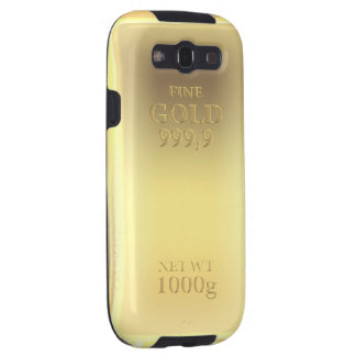 Gold bar design, looks so real! galaxy s3 covers