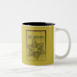 Gold Bar Mitzvah Star of David Coffee Mugs