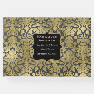 Gold Baroque 50th Anniversary Custom Guest Book