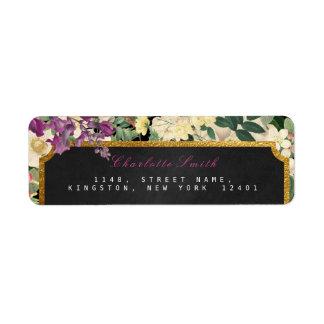 Gold Baroque Floral Vintage Return Address Labels