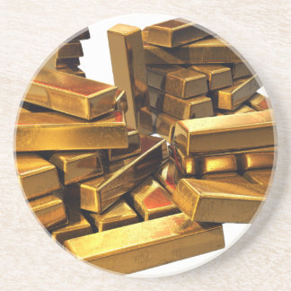 Gold Bars Beverage Coaster