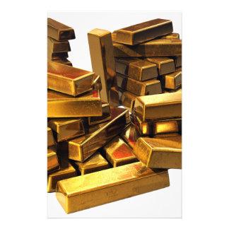 Gold Bars Custom Stationery