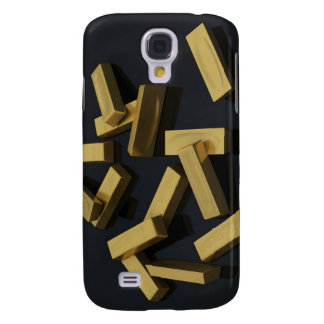 Gold bars in bulk on a black background samsung galaxy s4 covers