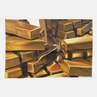 Gold Bars Kitchen Towels