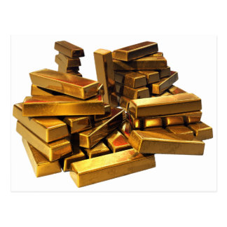 Gold Bars Postcard