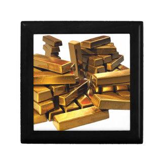 Gold Bars Small Square Gift Box