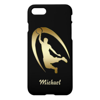 Gold Basketball Player iPhone 7 Case