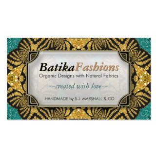 Gold Batika Fashion Modern Tribal Business Cards