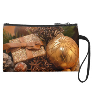 Gold Bauble and Christmas Present Wristlet