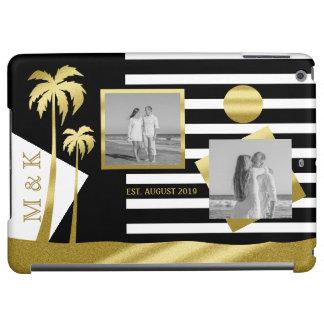 Gold Beach Black Stripes Instagram Photos Monogram