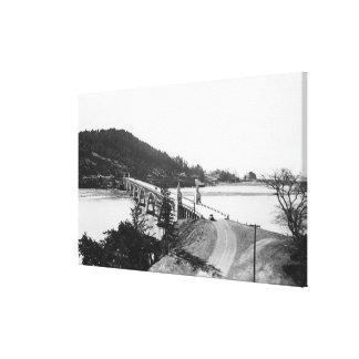 Gold Beach, Oregon Bridge over Rogue River Canvas Print