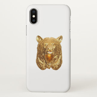 Gold bear iPhone x case