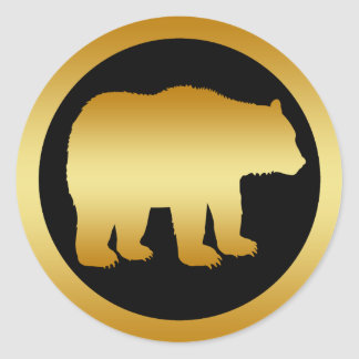 GOLD BEAR STICKERS
