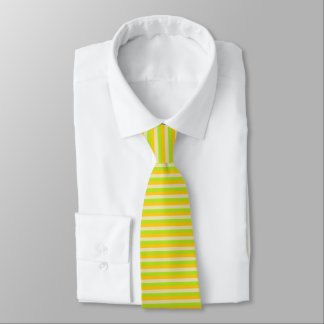 Gold, Beige and Lime Green Stripes Tie