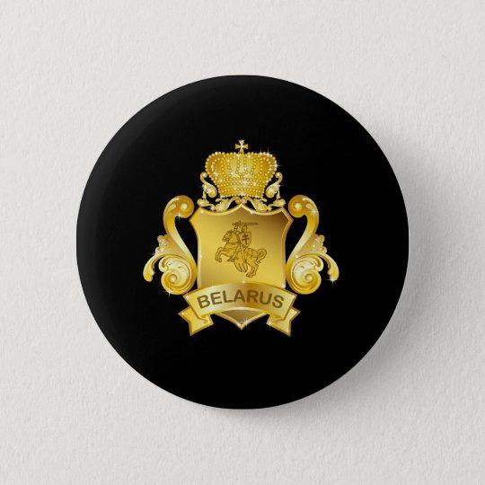 Gold Belarus 6 Cm Round Badge