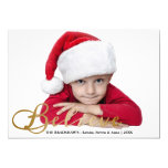 Gold Believe Christmas Photo Card Personalized Invite