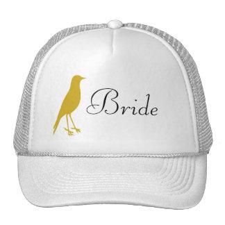 gold bird cap