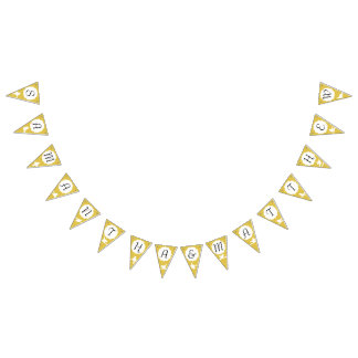 Gold Bird Silhouette Celebration Bunting