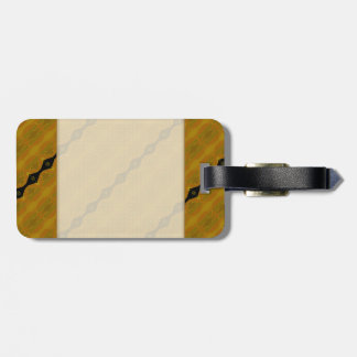 Gold Black and Olive Striped Modern Abstract Travel Bag Tag