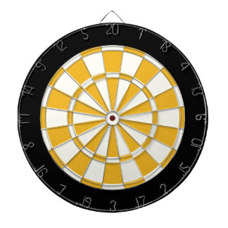 Gold Black And White Dartboard
