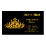 Gold & Black Baroque Business Card