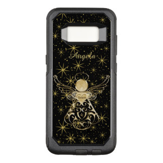 : Gold/Black Christmas Angel of Grace OtterBox Commuter Samsung Galaxy S8 Case