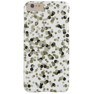 Gold Black Confetti Dots Barely There iPhone 6 Plus Case
