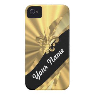 Gold & black fleur de lys Case-Mate iPhone 4 cases