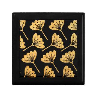 Gold & Black Floral Gift Box