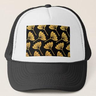 Gold & Black Floral Trucker Hat