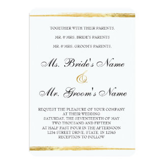 Gold & Black Formal Wedding Invitation