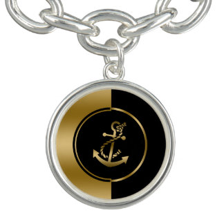 Gold & Black Geometric Design & Boat Anchor