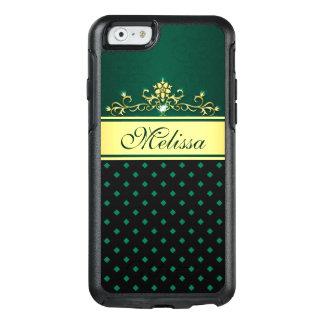 Gold Black Green Diamond OtterBox iPhone 6/6s Case