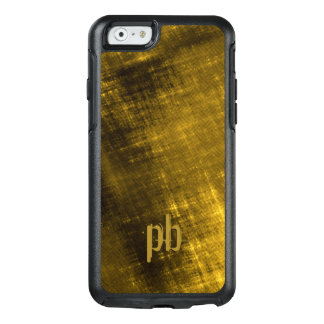 gold black grungy tweed look mens OtterBox iPhone 6/6s case