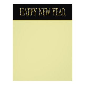 gold black happy new year 21.5 cm x 28 cm flyer