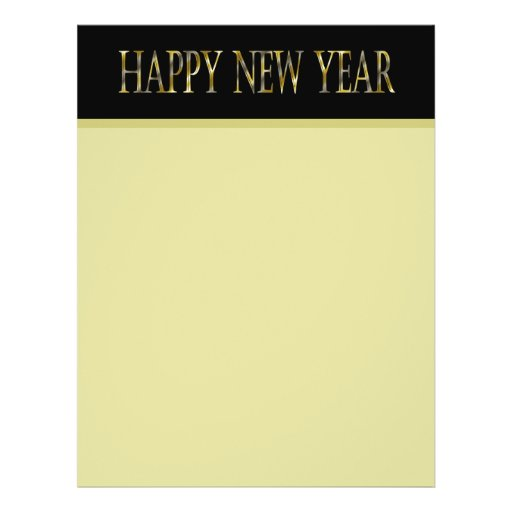 gold black happy new year flyers