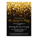 Gold Black Hollywood Glam New Year's Eve Party 13 Cm X 18 Cm Invitation Card