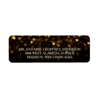 Gold Black Hollywood Glitz Glam Wedding Label