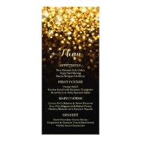 Gold Black Hollywood Glitz Glam Wedding Menu Full Color Rack Card