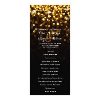 Gold Black Hollywood Glitz Glam Wedding Program Rack Card Template