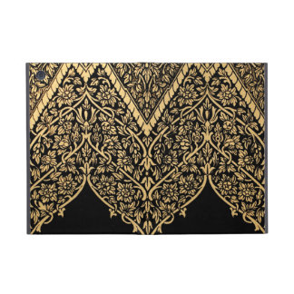 Gold Black Indian Motif Vintage Design Pattern Cover For iPad Mini