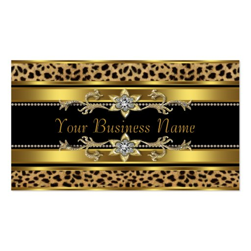 Collections of leopard animal print business cards gold black leopard business cards colourmoves