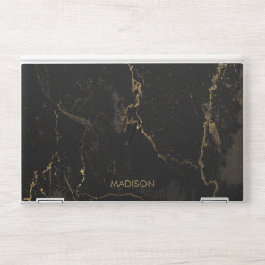 Gold Black Marble HP Laptop Skin