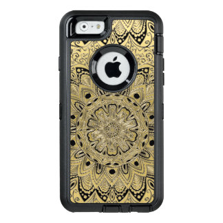 Gold Black Metallic Mandala Otterbox iPhone Case
