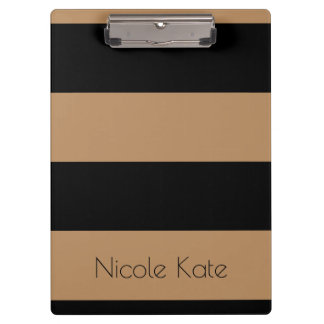 Gold Black Monogram Clipboards