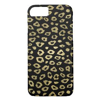 Gold Black Ombre Leopard Print iPhone 8/7 Case