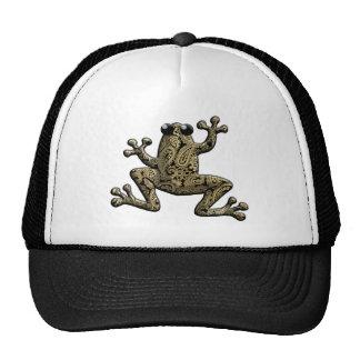 Gold Black Paisley Climbing Frog Hat