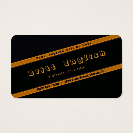 Gold Black Professional, Custom Business Card